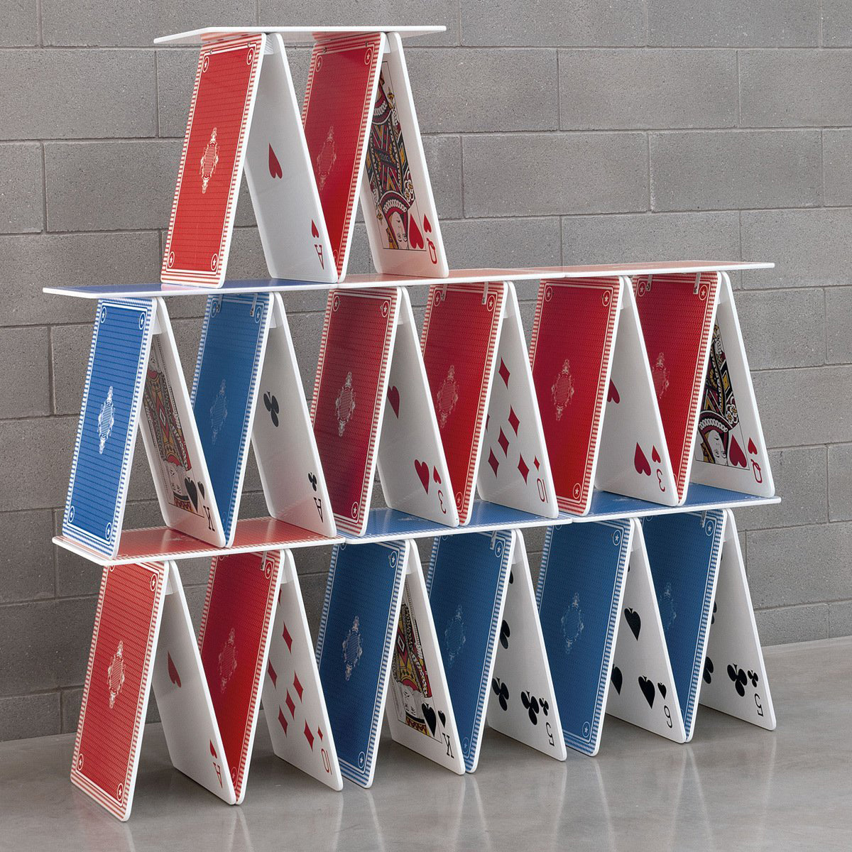 Card Stacking: Stackable Playing Card Table / Shelf