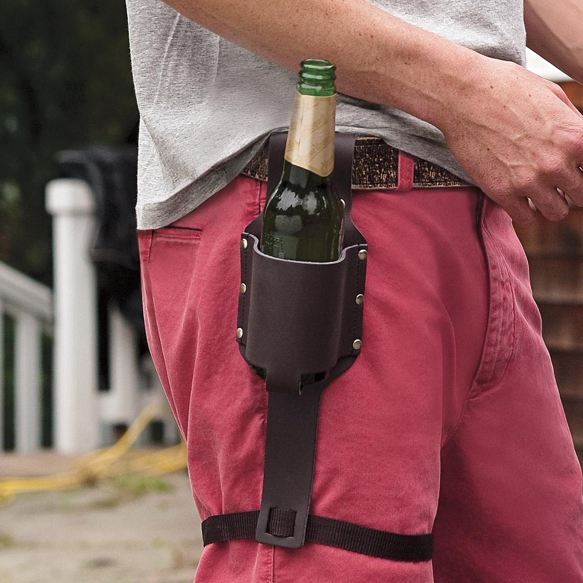 Leather Beer Holster Advertisement