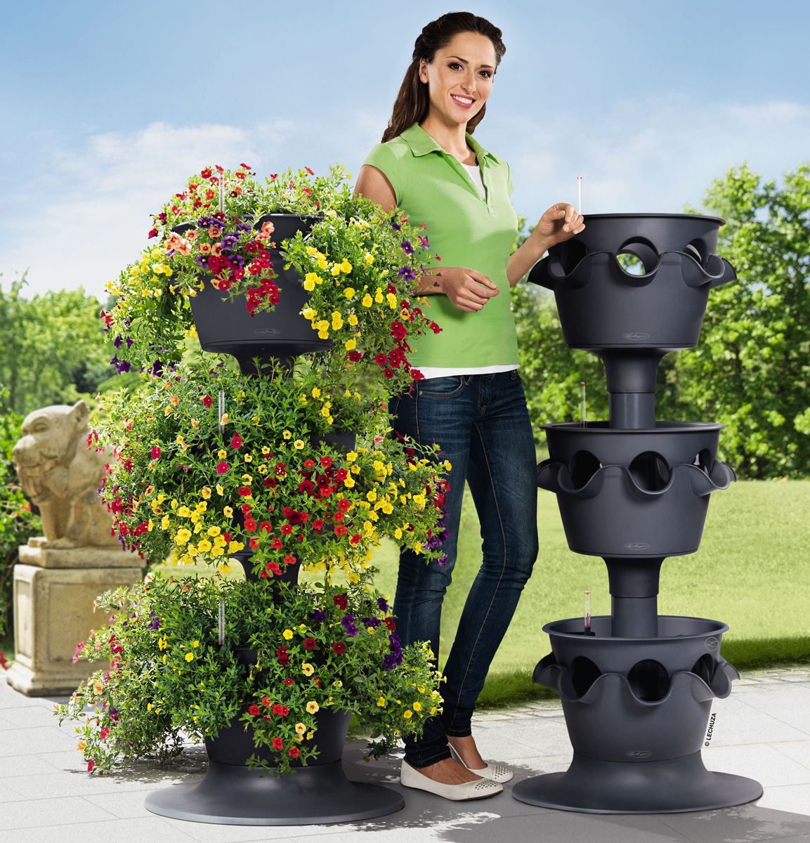 Lechuza Cascada Stackable Self Watering Planters The