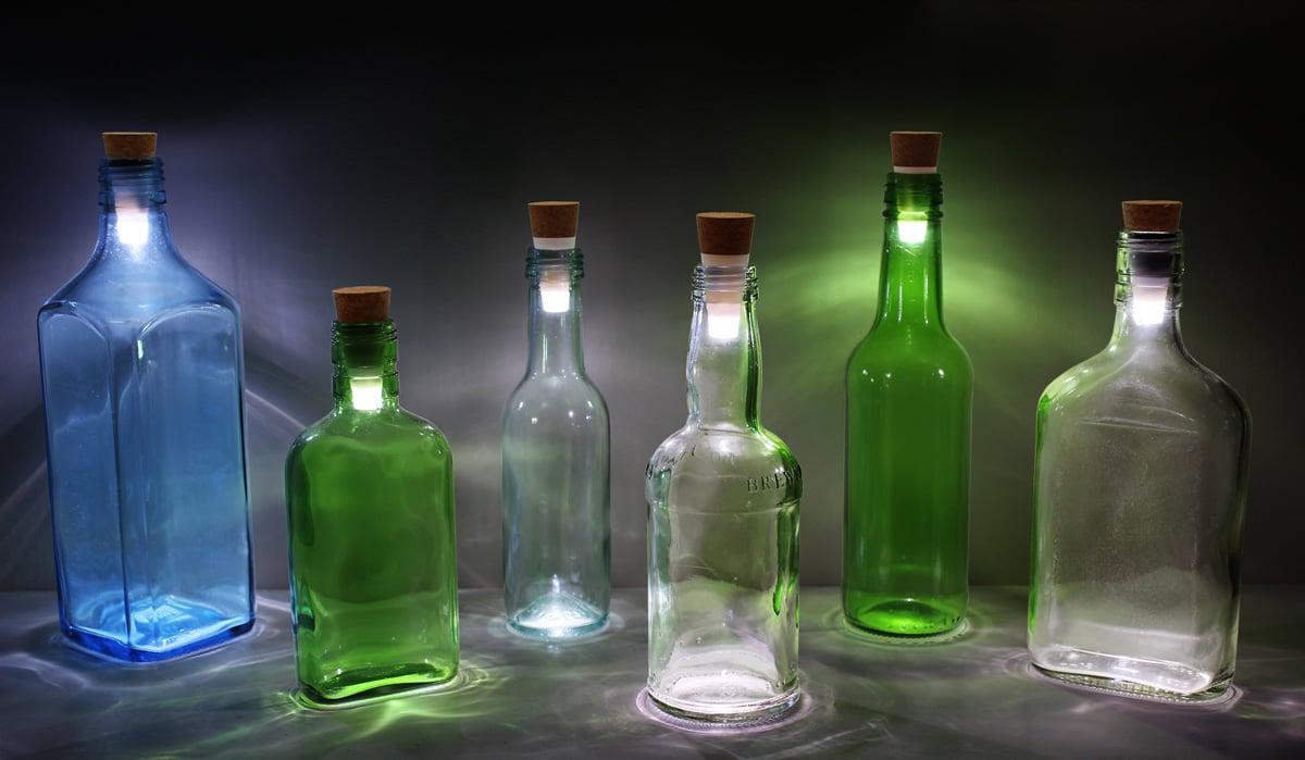 Led Bottle Cork Turn Empty Bottles Into Lamps