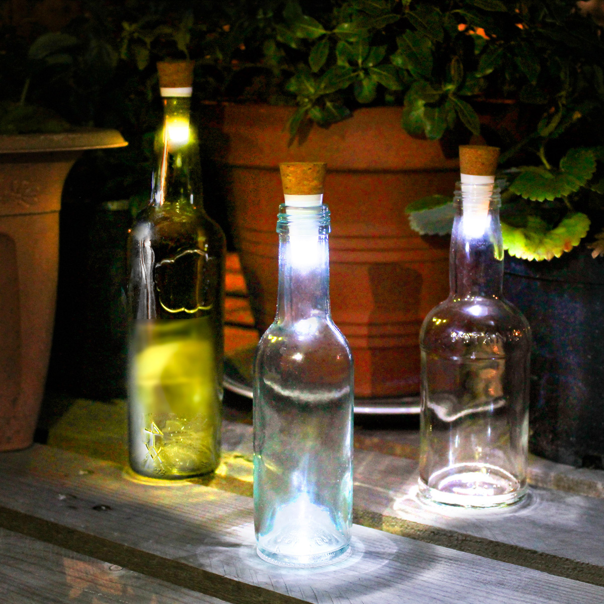 Led Bottle Cork Turn Empty Bottles Into Lamps The
