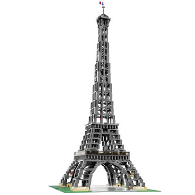 lego eiffel tower the green head. Black Bedroom Furniture Sets. Home Design Ideas