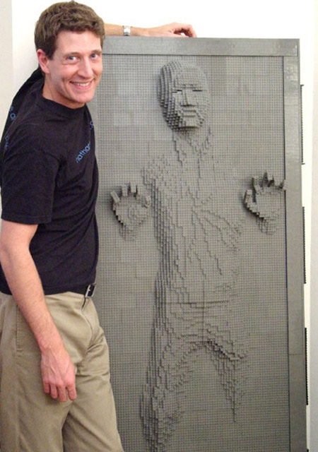 LEGO Life Size Han Solo Frozen in Carbonite - 10,000 Bricks! - The ...