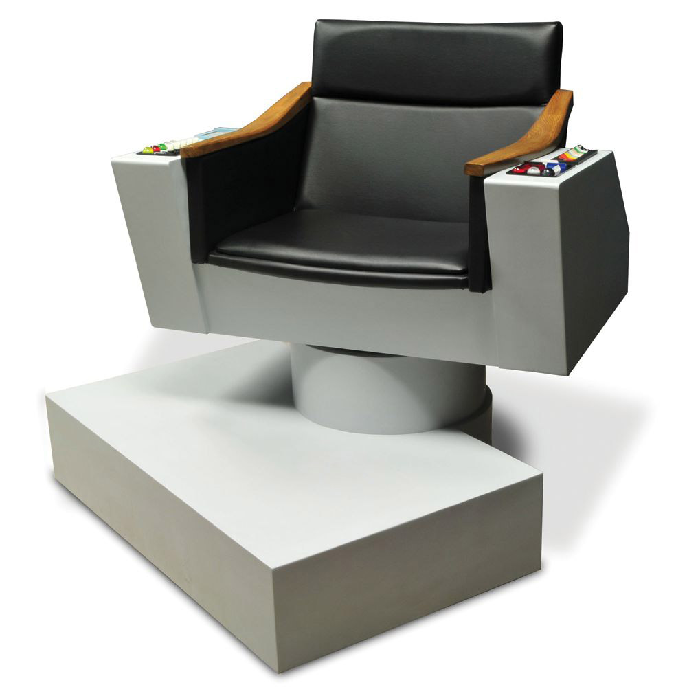 Captains chair star trek - Lifesize Replica Of Captain Kirk S Chair From Star Trek