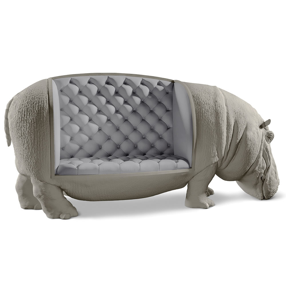Lifesize Hippopotamus Sofa Statue The Green Head