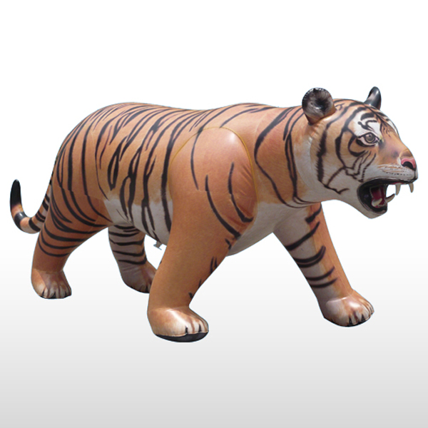 Lifesize Inflatable Tiger The Green Head