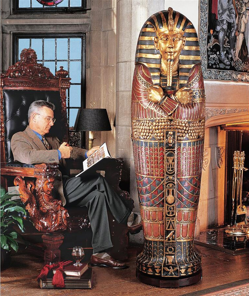 Uncategorized Pictures Of Sarcophagus lifesize king tutankhamun sarcophagus cabinet the green head cabinet