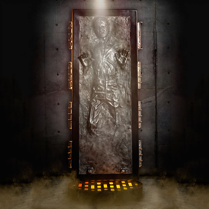 Lifesize star wars han solo frozen in carbonite statue the green head - Han solo carbonite wall art ...