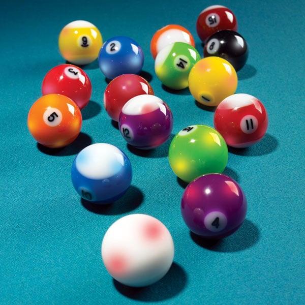 Lighted Billiard Balls