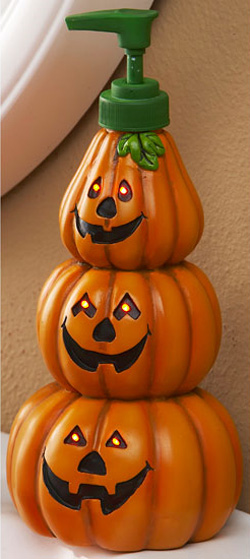 Lighted Pumpkin Soap Dispenser The Green Head