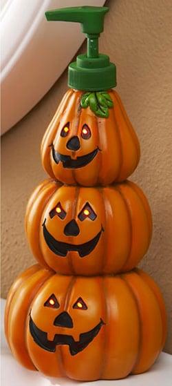 Lighted Pumpkin Soap Dispenser The Green Head