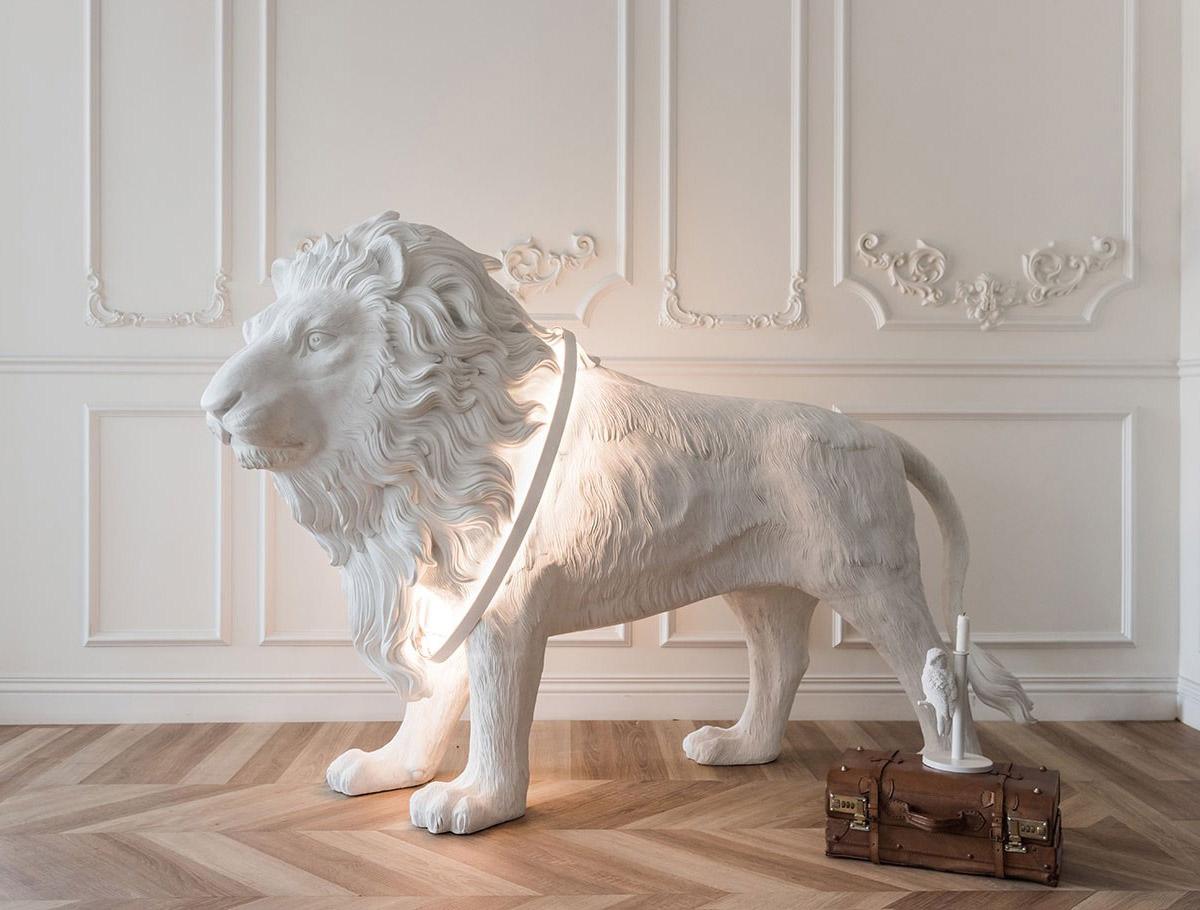 Lion X Lifesize Lion Statue Floor Light