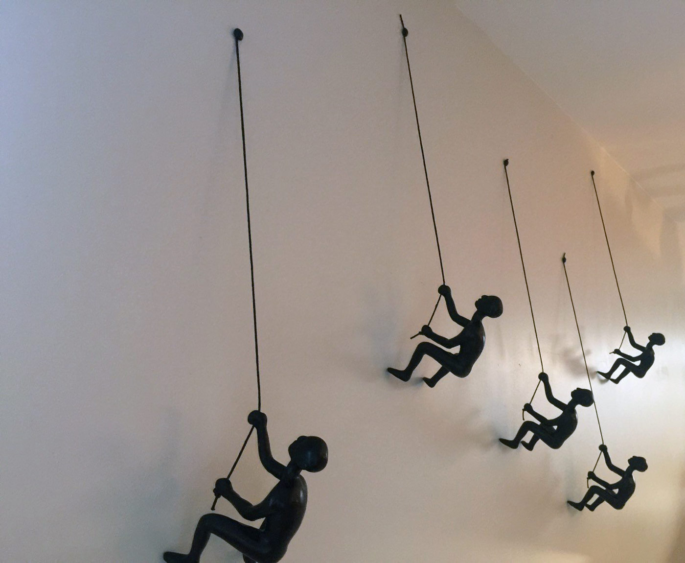 Little Wall Mounted Rock Climber Sculptures