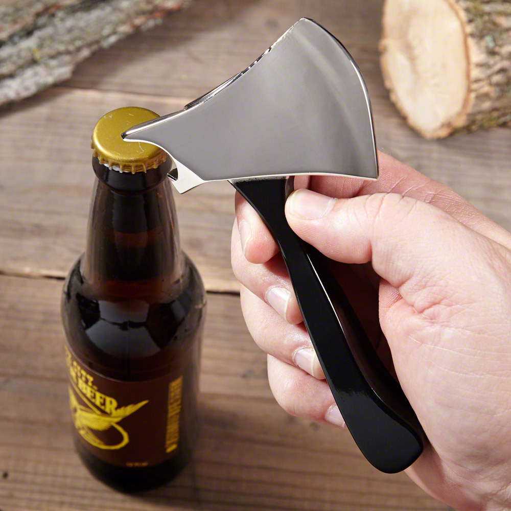lumberjack axe beer bottle opener