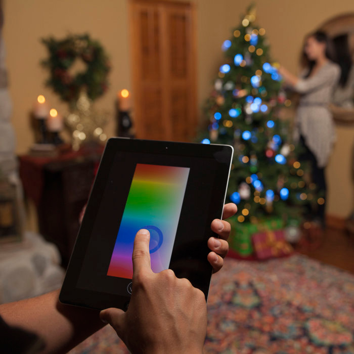 lumenplay interactive app controlled string lights 16 million colors