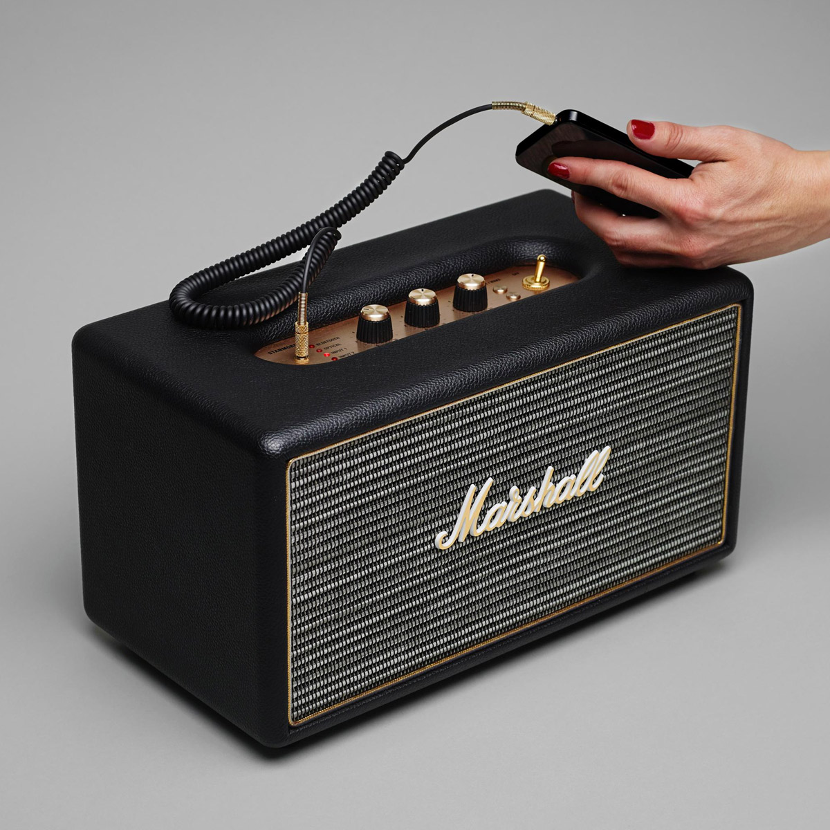 Marshall Stanmore Wireless Bluetooth Speaker on custom stereo