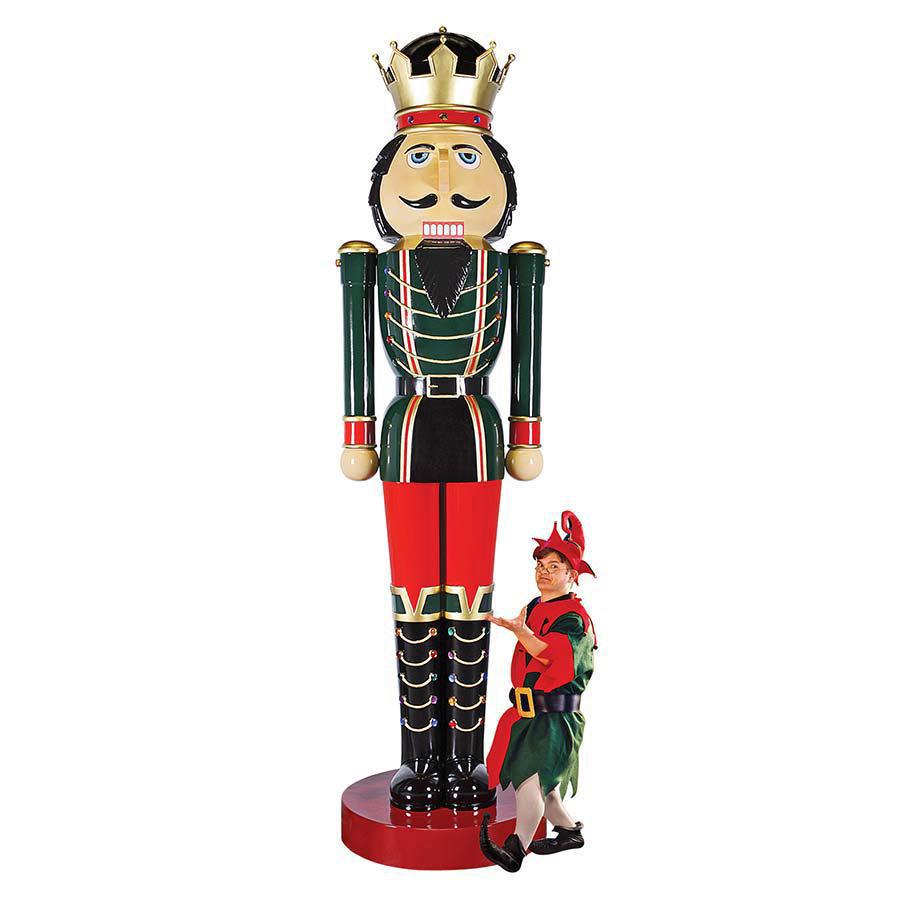 Massive 12 Foot Tall Nutcracker Statue The Green Head
