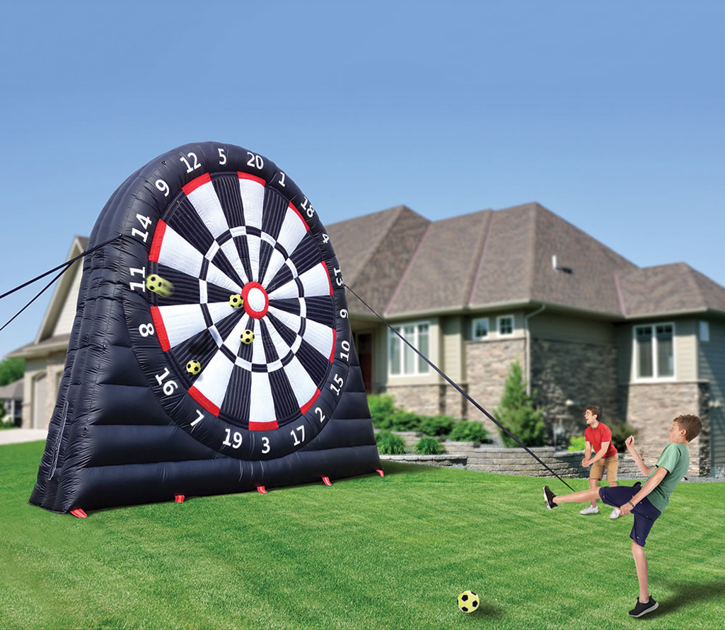 Soccer: Massive 20 Foot Tall Inflatable Soccer Dartboard