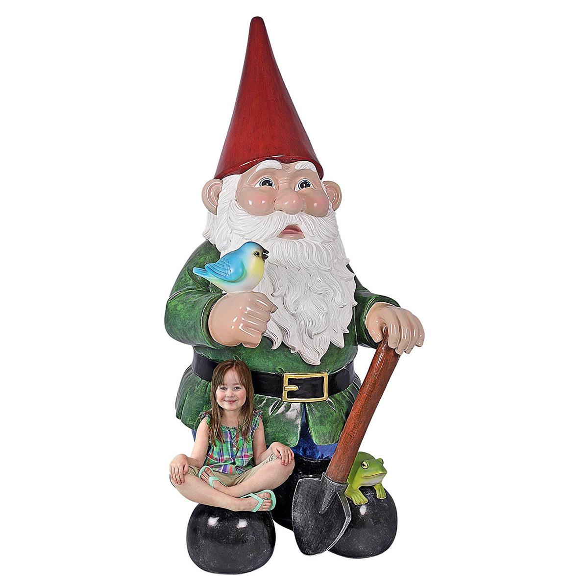 Gnome In Garden: Massive 8.5 Feet Tall Garden Gnome Statue