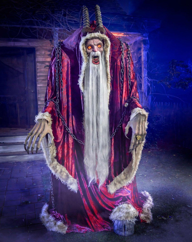 Massive Animatronic Krampus Statue for Halloween / Christmas