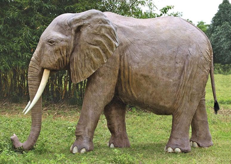 Backyard Statues massive backyard elephant statue - the green head