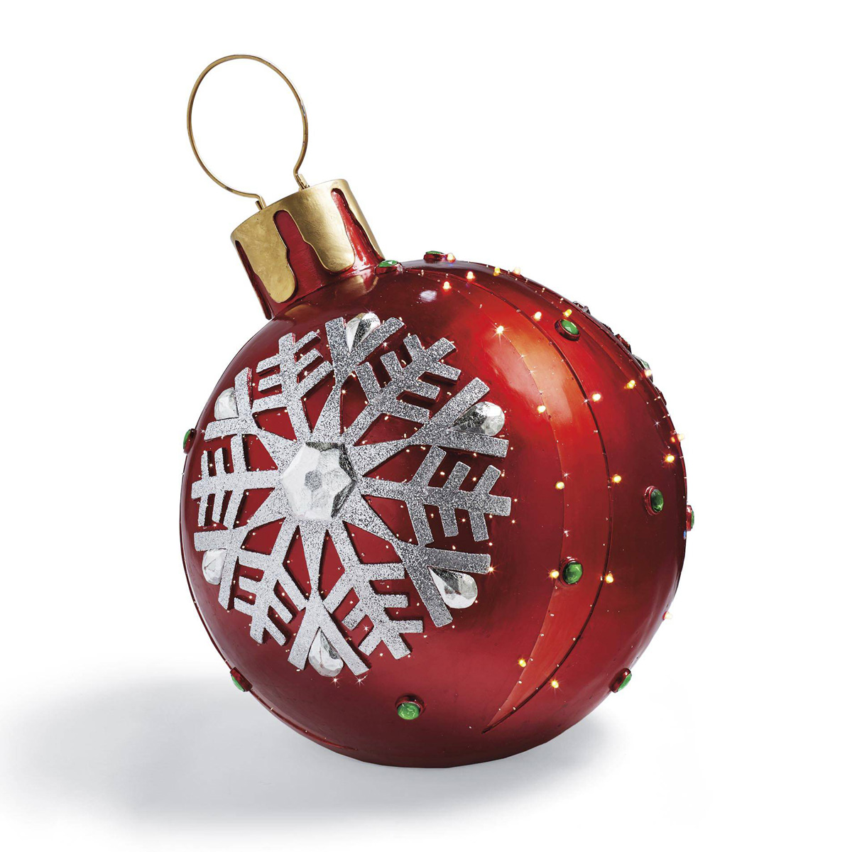 Massive fiber optic led outdoor christmas ornaments the for Holiday christmas ornaments