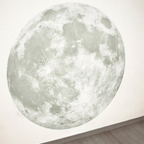 Massive Glow In The Dark Full Moon Wall Sticker