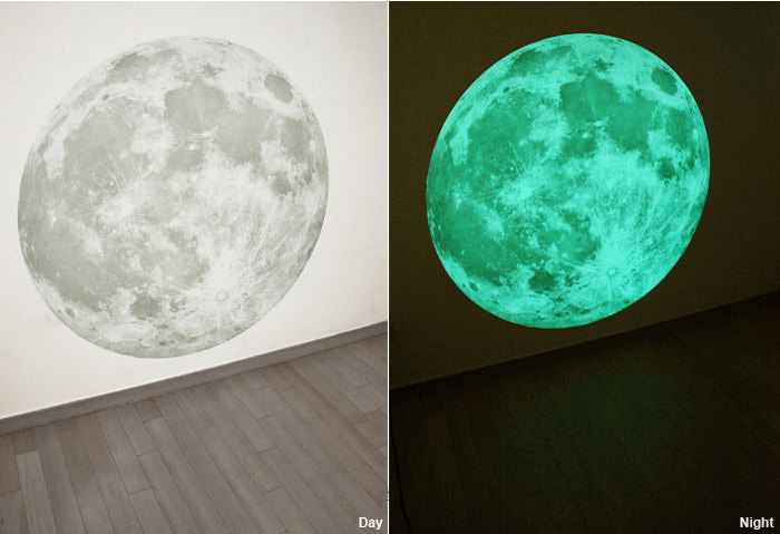 Massive Glow In The Dark Full Moon Wall Sticker Part 76