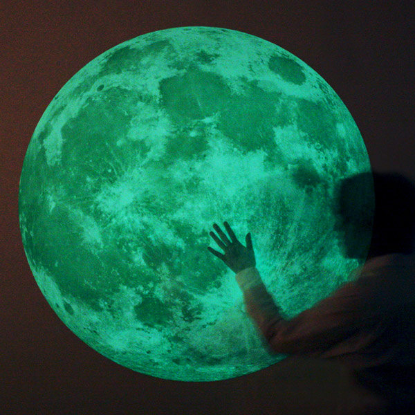 Massive Glow In The Dark Full Moon Wall Sticker Part 62