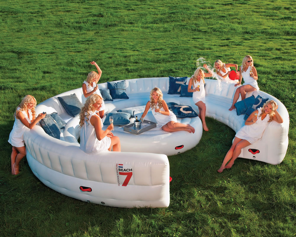 Massive Inflatable Outdoor Party Sofa Seats 30 Guests The Green Head