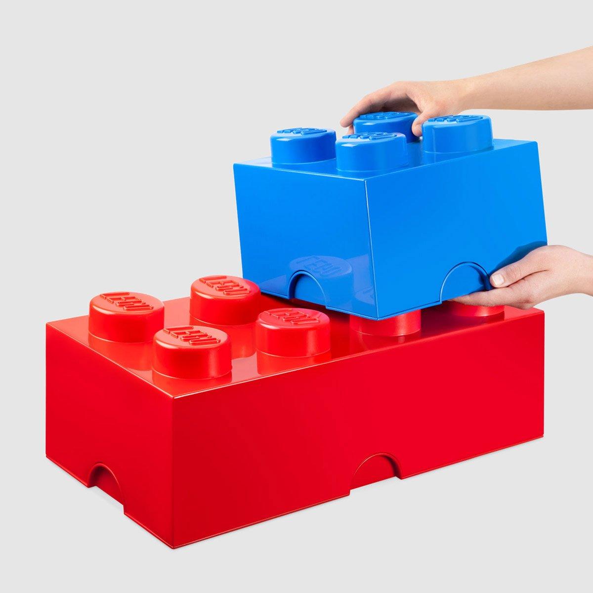massive lego stackable storage bricks the green head. Black Bedroom Furniture Sets. Home Design Ideas