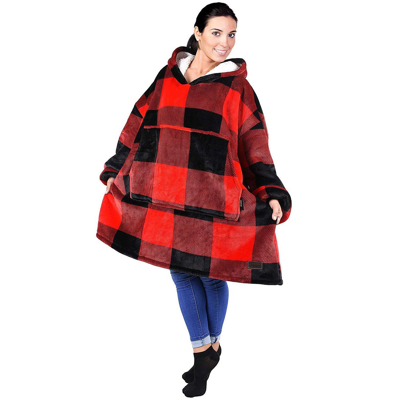 Massive Oversized Sherpa Hoodie Sweatshirt Blanket