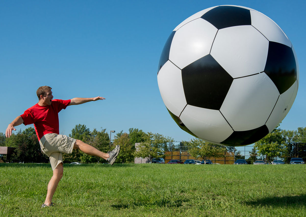 how to make a massive soccer ball