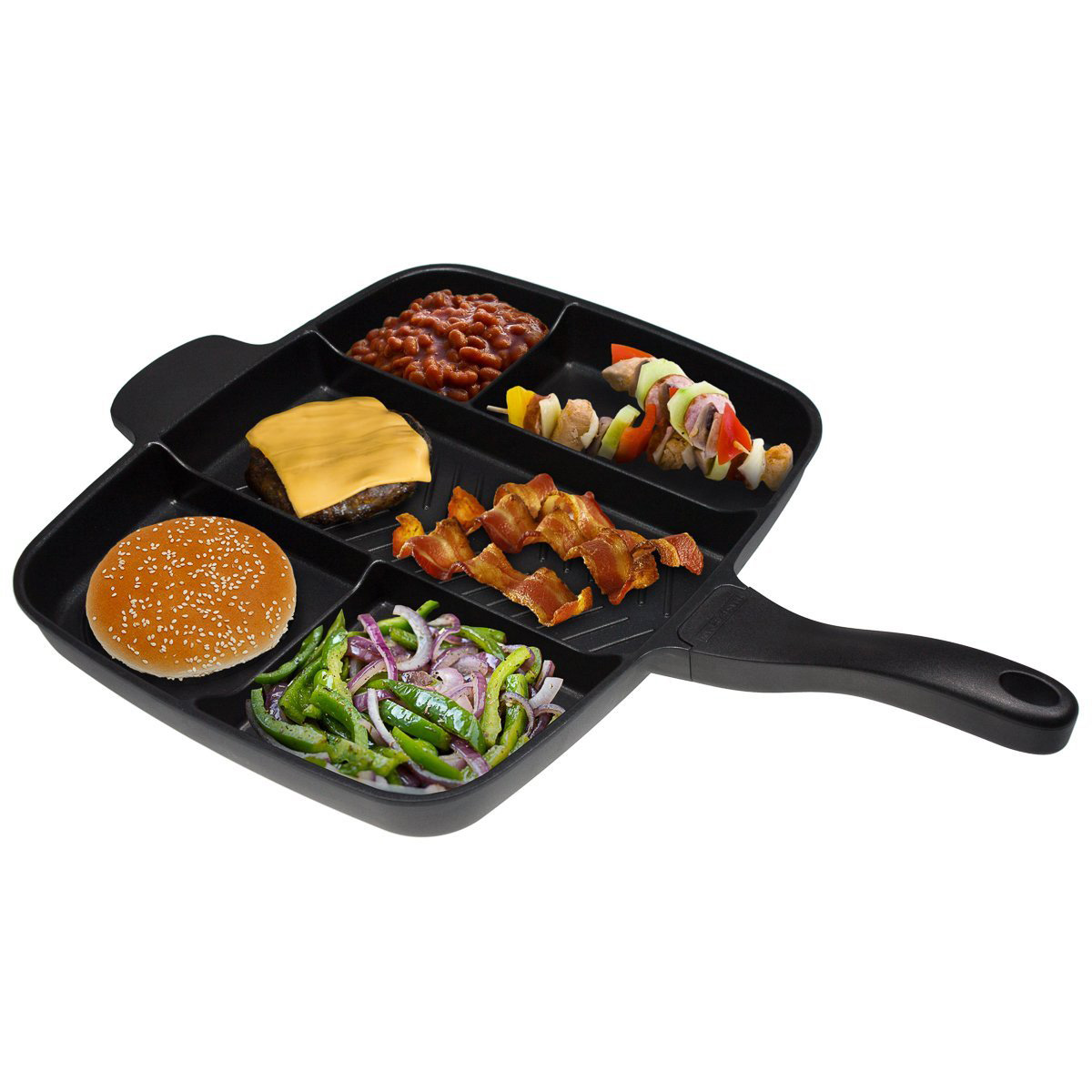 Master Pan Multi Sectioned Nonstick Skillet The Green Head