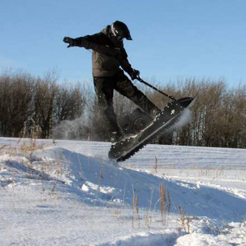 mattracks powerboard gaspowered motorized snowboard