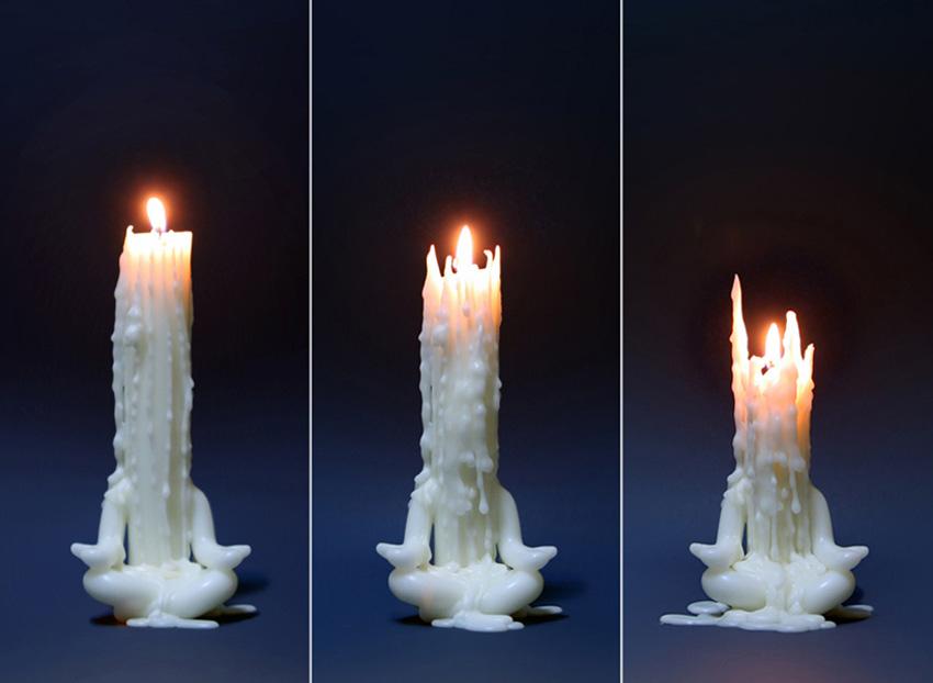 Meditative Candle Man The Green Head