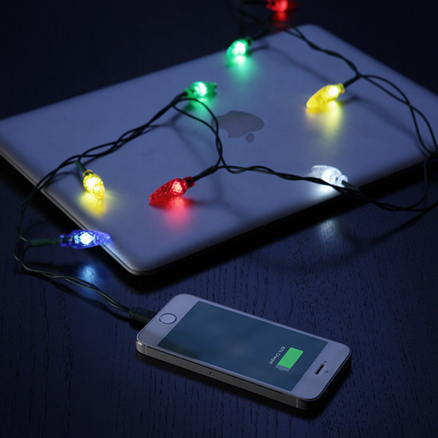 Merry charger festive christmas lights iphone charging