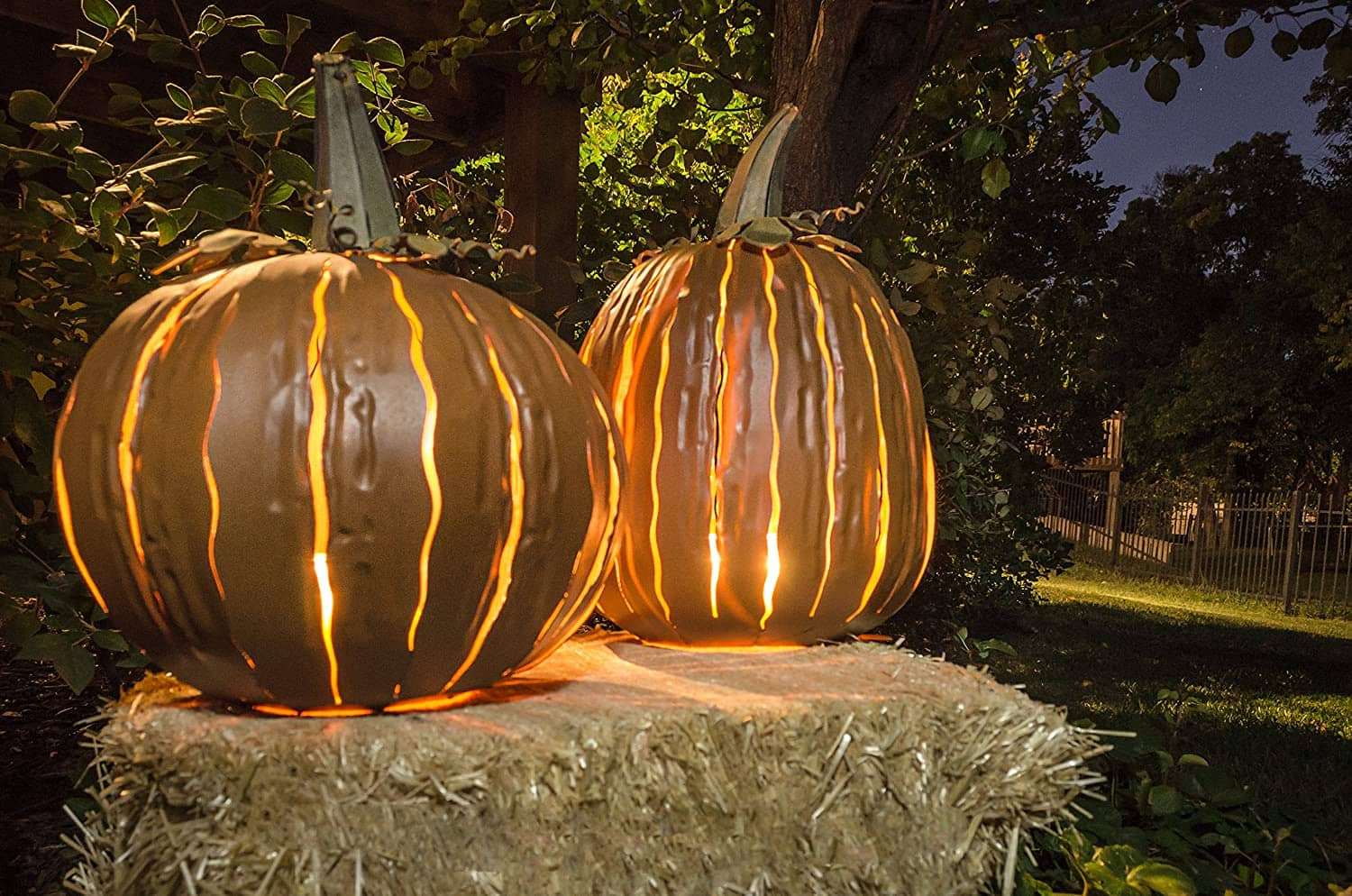 Metal Pumpkin Luminary