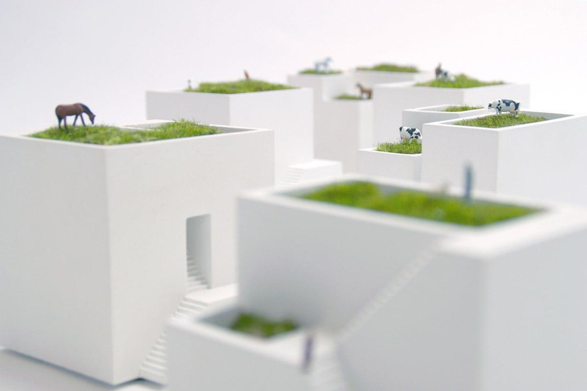 the ienami micro landscape planters planter head metaphys green