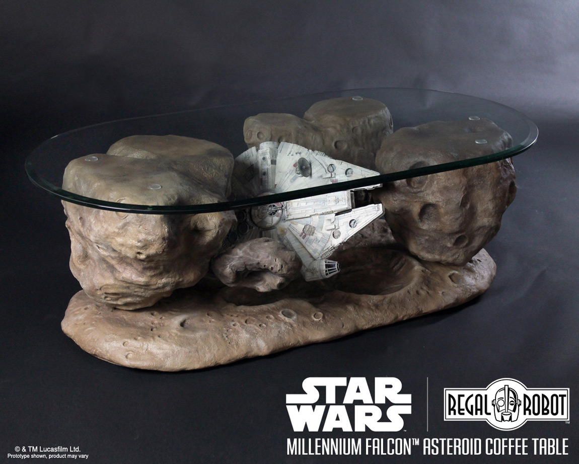 millennium falcon asteroid coffee table