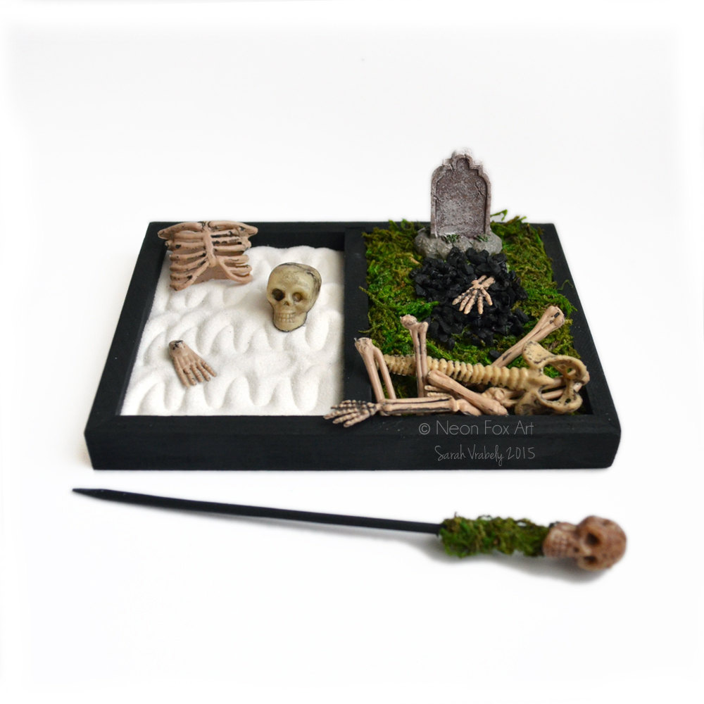 Mini Halloween Zen Garden Cemetery The Green Head