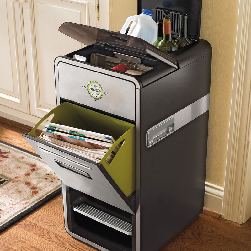 Mode all in one home recycling system with mechanical compactor the green head - Recycle containers for home use ...