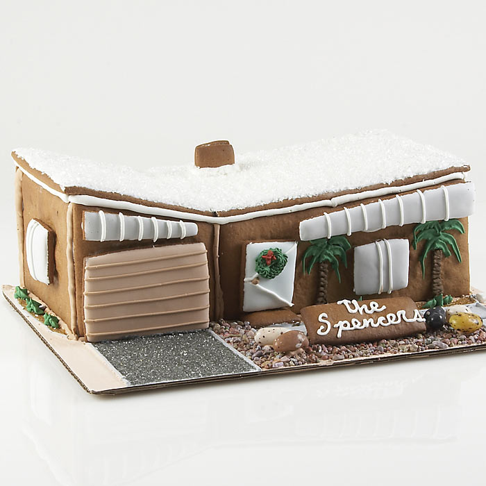 Modern Gingerbread House The Green Head - Gingerbread house garage