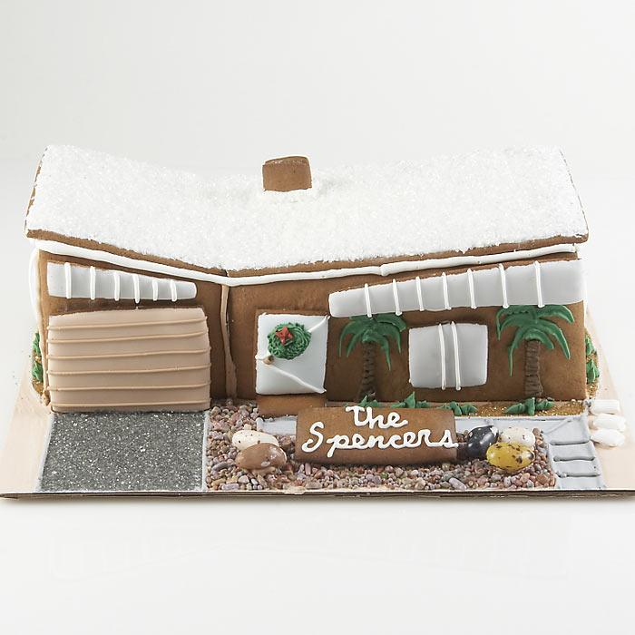 Modern Gingerbread House - he Green Head - ^