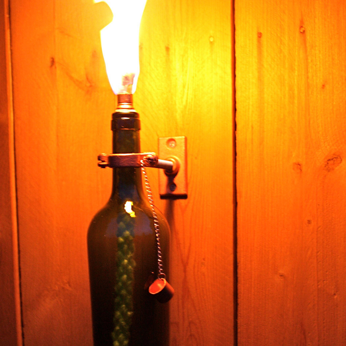 Mounted Wine Bottle Tiki Torches The Green Head