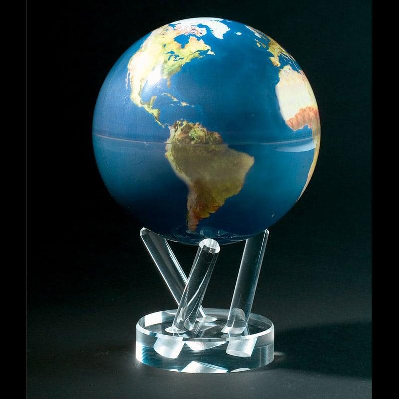 mova globe perpetual motion rotating globe the green head