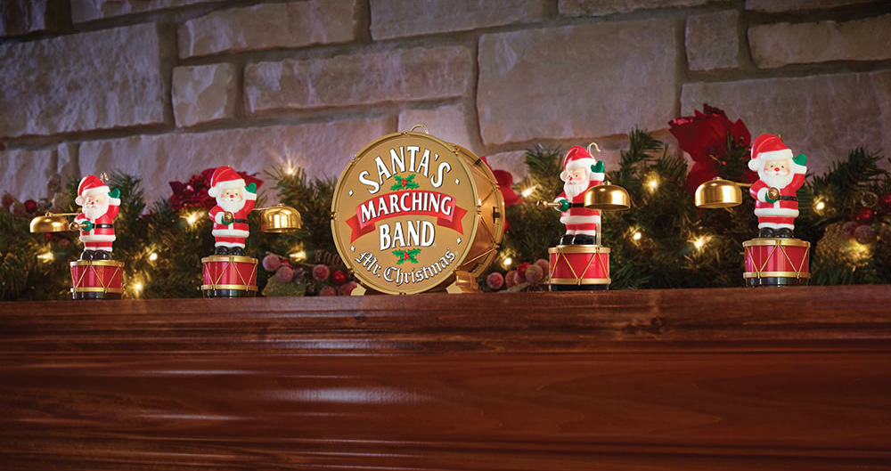 mr christmas santas marching band coordinated caroling ornaments
