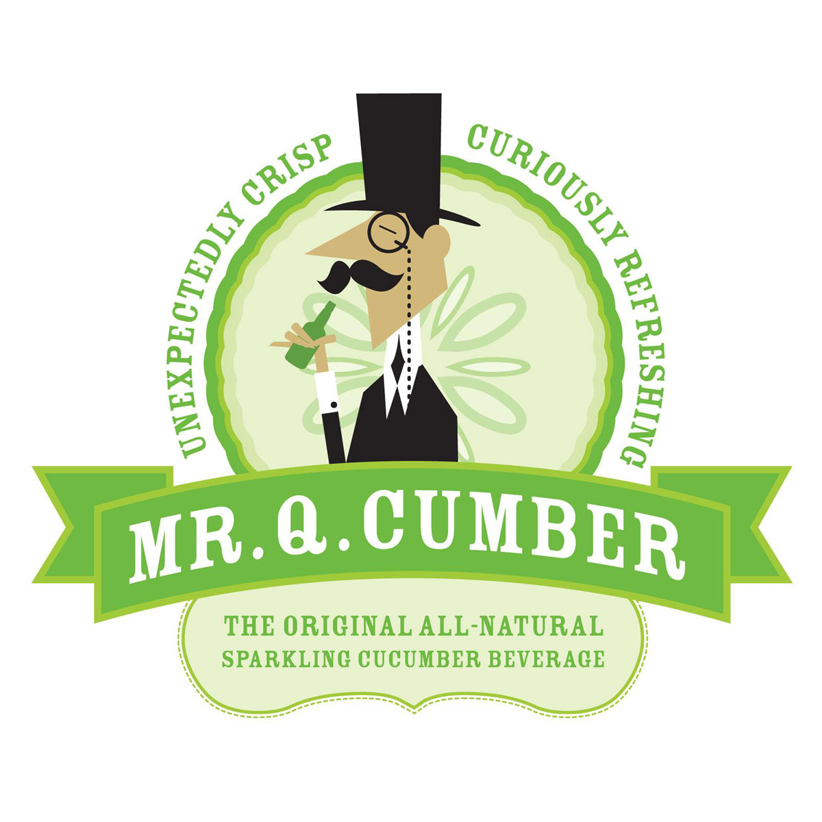 Mr Q Cumber Sparkling Cucumber Soda The Green Head