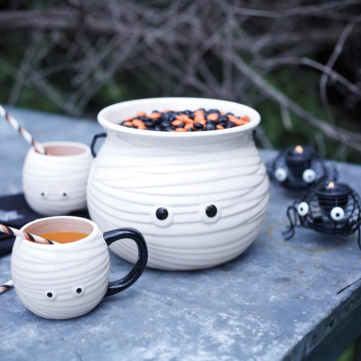 Mummy Mugs And Candy Bowl