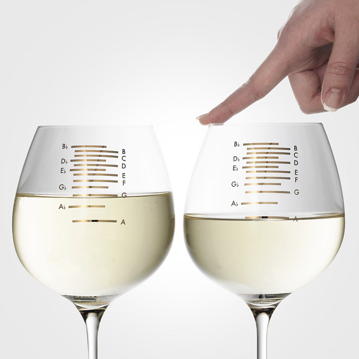 Musical wine glasses the green head Unusual drinking glasses uk